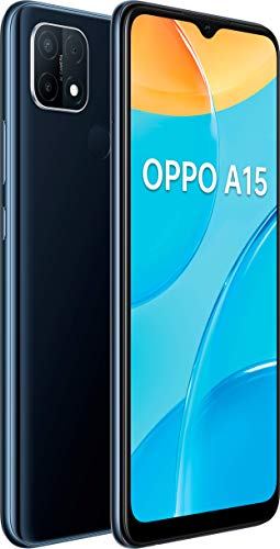 اوبو A15 ثنائي شريحة الاتصال ذاكرة تخزين داخلية 32 جيجا بايت + ذاكرة وصول عشوائي 3 جيجا بايت 4G/LTE الذكي (أسود) - اصدار عالمي