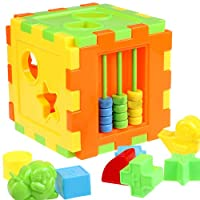 Bluelans Kid Baby Toddler Educational Play Toy Games Animal Shape Alphabet Block Cube for Kids Boys Girls Xmas Gifts Xmas Stocking Fillers Party Bag Gifts