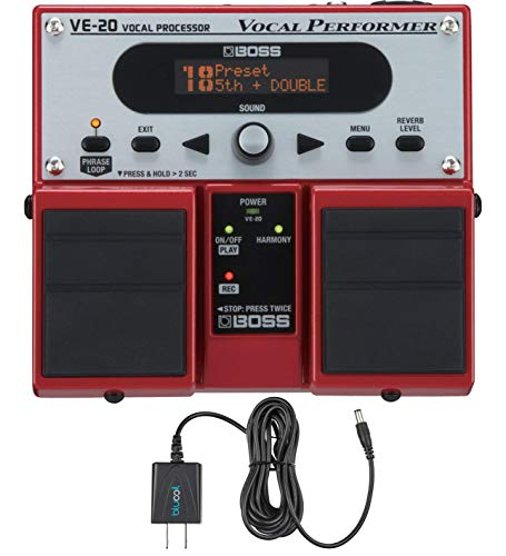 (Boss VE-20 Vocal Performer Vocal Processor Pedal w/ Power Supply)