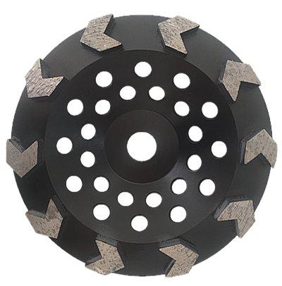 Whirlwind USA GPA 7-inch Diamond Grinding Cup Wheel Premium Arrow-Shaped Segmented Cup (7