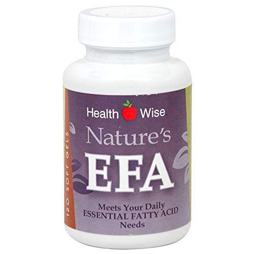HealthSmart Supplement - Nature's EFA - Essential Fatty Acids - Diet Supplement - Omega3 - Omega6 - Fish Oil - Borage Seed - Flax Seed Oil - 120 Capsules