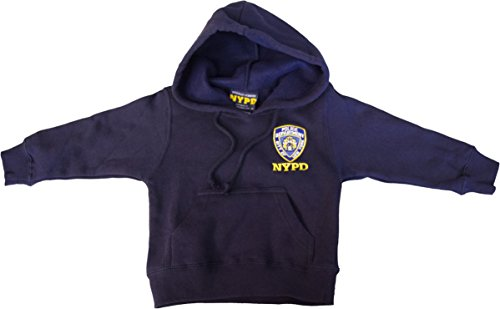 NYPD Kids Hoodie Embroidered Sweatshirt Navy (Small)