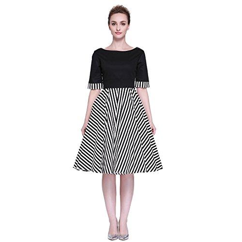 761715428341 Heroecol Vintage 1950s 50s Dress Style Retro Rockabiily Cocktail