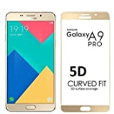 Helix 5D 9H Premium Full 9H Covered Edges Tempered Glass Screen Protector for Samsung Galaxy A9 Pro (2016) - Gold