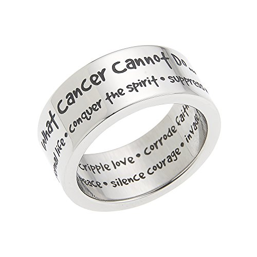 Beads & Pearls Jewelry What Cancer Cannot Do Invade The Soul, Destroy Peace. Cancer Survivor Rings, Cancer Survivor Gifts for Women
