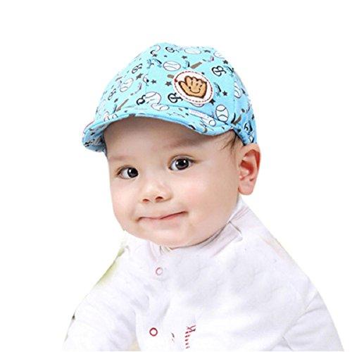 Doinshop Baby Kids Peaked Baseball Beret Cap Toddler Infant Hat (blue)