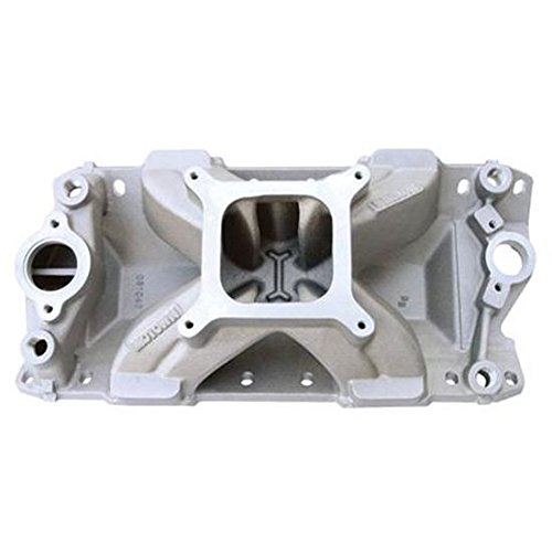 World Products 061040 Motown Intake Manifold with 4150 Carburetor Flange - Small Block Chevy