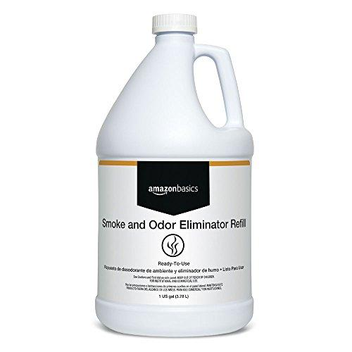 - AmazonBasics Professional Smoke and Odor Eliminator Refill, 1-Gallon, 4-Pack