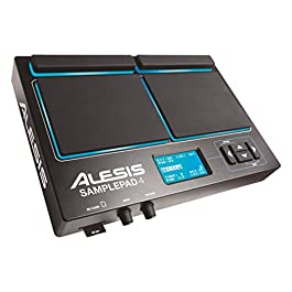 Alesis Sample Pad 4 | Compact Percussion and Sample Triggering Instrument with 4 Velocity Sensitive Pads, 25 Drum Sounds…