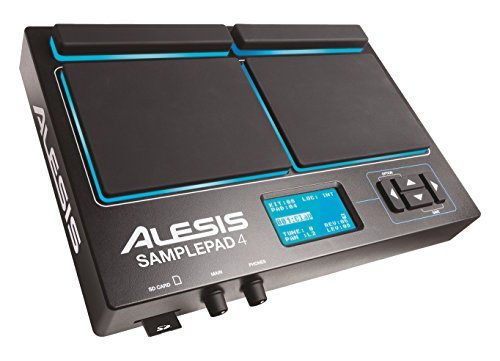 Dual Trigger Snare Pad - Alesis SamplePad 4 | Compact 4-Pad Percussion and Sample-Triggering Instrument with SD Card Slot