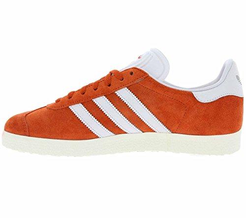 Original Adidas Unisex S76026 Zapatillas Naranja White GAZELLE Red S8FR8