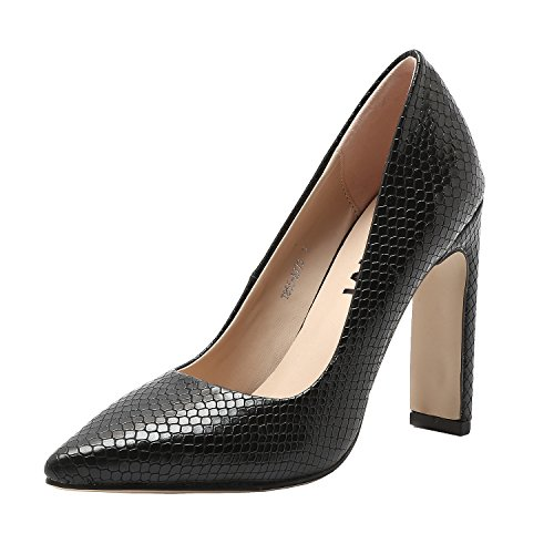 Vivi Womens PU Leather Snake Skin Print High-Heel Pointed Toe Wedding Party Pumps Size 9.5