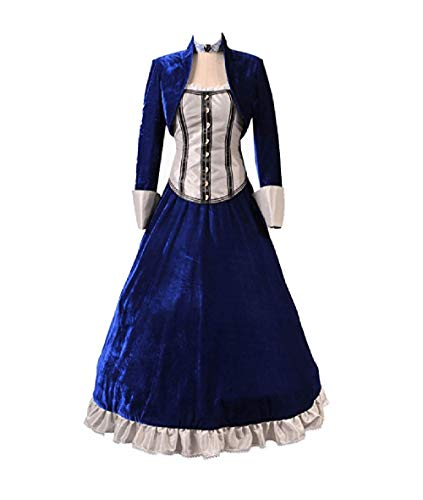TISEA Women's Hot First-Person Shooting Game Film Cosplay Costume (S, Blue) ()