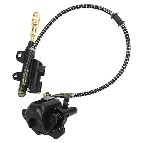 INNOGLOW Rear Brake Assembly Master Cylinder Caliper for 50cc 70cc 90cc 110cc 125cc Chinese ATV Quad Off-Road Motorcycle Scooter (Black) by INNOGLOW (Image #4)