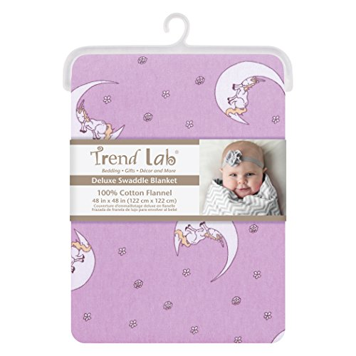 Trend Lab Unicorn Moon Jumbo Deluxe Flannel Swaddle Blanket