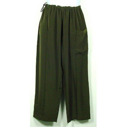 Green Silk Kung Fu Pants, Size S by Jade