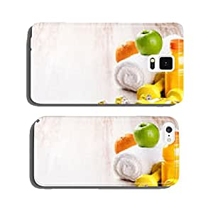 Fitness concept with dumbbells and fresh fruits cell phone cover case iPhone6 Plus