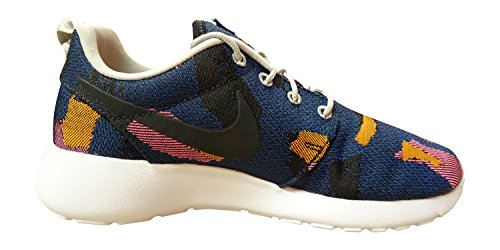 Nike Womens Roshe One JCRD Print Running Trainers 845009 Sneakers Shoes (US 9.5, game royal black 400)