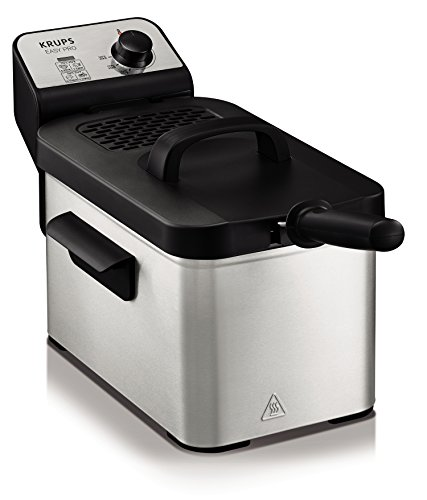 Krups KJ33 Easy Pro 2.5 L Deep-Fryer with Snack Accessory with Food Presets and Timer, Stainless Steel Review