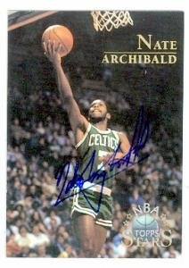 Basketball Archibald Autographed (Nate Archibald autographed Basketball Card (Boston Celtics) 1996 Topps Stars #2 - Autographed Basketball Cards)
