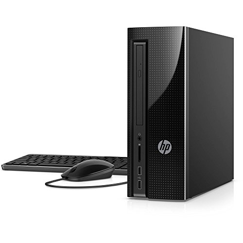 HP High Performance Slimline Desktop - Intel Quad Core i5-6400T, 8GB RAM, 1TB HDD, DVD, HDMI, WIFI, Bluetooth, Windows 10 Home (Black)