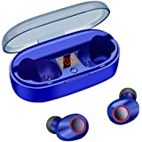 True Wireless Earbuds Bluetooth 5.0 20H Playtime IPX5 Waterproof Wireless Earphones 3D Stereo Sport Mini Wireless Earphones Built-in Mic HiFi Sound in-Ear Bluetooth Earphones LED Display Charging Case