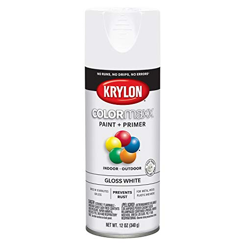 Krylon K05545007 COLORmaxx Spray Paint, Aerosol, White (Paint Outdoor Aluminum Best Furniture For)