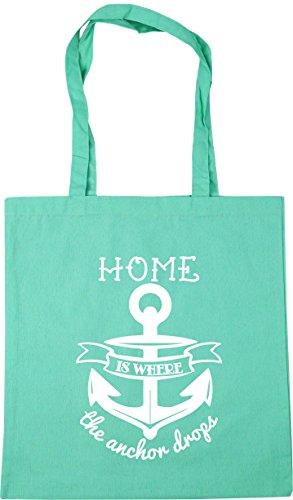 Bag 42cm HippoWarehouse the where Mint is litres 10 Shopping drops Tote x38cm Gym Home anchor Beach v1p1wPq
