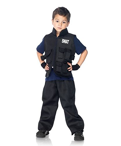 [Swat Commander Kids Costume - Large] (Swat Vest Costume)