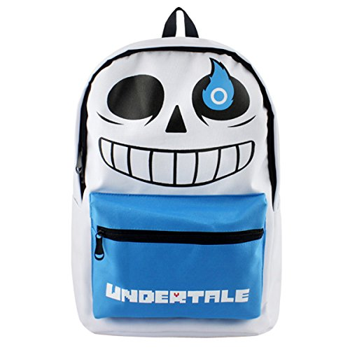 YOURNELO Boy's Undertale Skull Game Related Products Rucksack School Backpack Bookbag (Blue&White) by YOURNELO