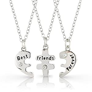 best friend jewelry for 3 3 bestfriends necklace set best friends forever three part necklace friendship necklace 641