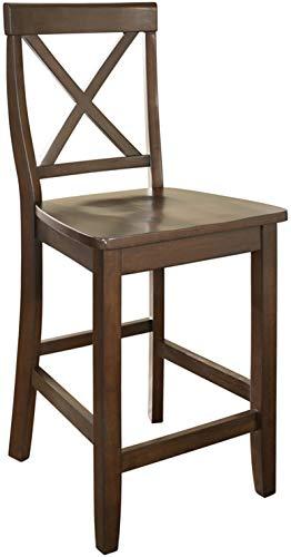 Crosley Furniture CF500424-MA X-Back Bar Stool (Set of 2), 24-inch, Vintage Mahogany