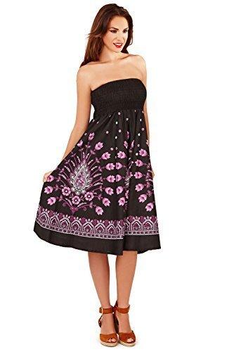 Pistachio Damen Blumenmuster Und Paisleymuster 2 In 1 Bandeau Kleid ...