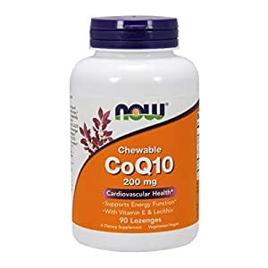 NOW CoQ10 200 mg,90 Lozenges
