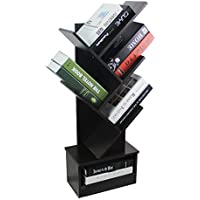 Raumeyun 5-Shelf Tree Bookcase a Storage.Special Design Bookshelf, Display Storage Rack CDS, Movies, Files & Books.Decorating Offices, Living Rooms Studies.
