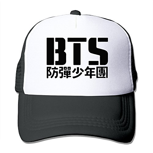 BTS-Bangtan-Boys-Kpop-Hat-Trucker-Fashionable-Black-For-Adult