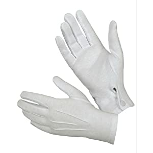 Hatch WG1000S Cotton Parade Glove with Snap Back (White)