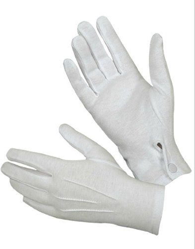 Hatch WG1000S Cotton Parade Glove W/Snap Back, White, Medium ()