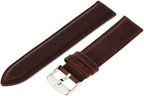 Daniel Wellington Men's Bristol Silver 20mm  Watch Strap