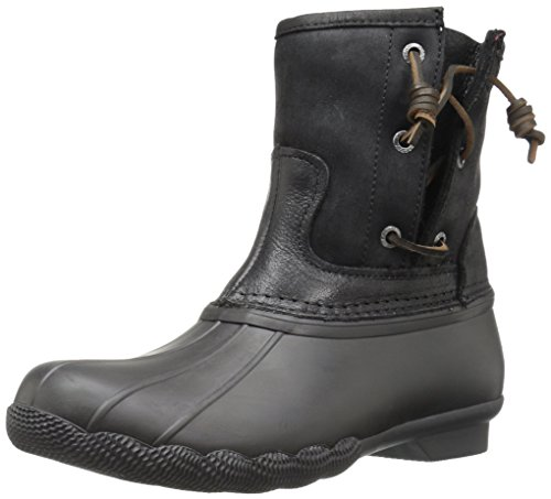 Sperry Top-Sider Women's Saltwater Pearl Seasonal Rain Boot, Black, 6 M US by Sperry Top-Sider