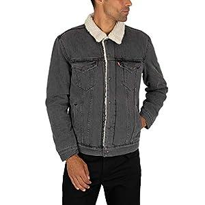 Levi's Men's Type 3 Sherpa Trucker Jacket, Grey