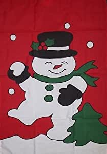 Snowman with Snowball 28x40 Brand NEW LARGE Vertical Banner - Great for the Holiday Season!