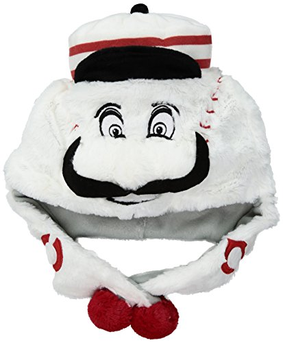 Dangle Hat Red (FOCO MLB Cincinnati Reds Thematic Mascot Dangle Hat)