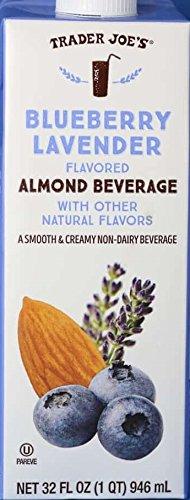 Trader Joe's Almond Milk Beverage Trio: Matcha Almond Beverage, Blueberry Lavender Flavored Almond Beverage, Unsweetened Almond Cashew and Macadamia Nut Beverage by TraderJoe (Image #2)