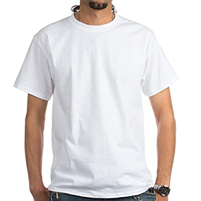 Joyshopping Customize Photo and Text Cotton Short Sleeve Men T-Shirt white