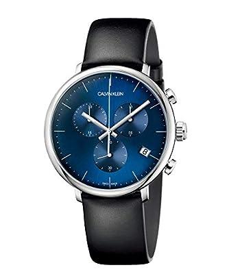 Calvin Klein Unisex Adult Chronograph Quartz Watch with Leather Strap K8M271CN
