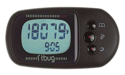 Fitbug AIR Activity Tracker - Retail Packaging - Black by Fitbug (Image #1)