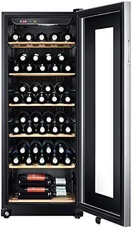 Haier WS59GAE - Nevera para vino (59 botellas, 127 cm de altura, protección UV, pantalla LED para ajuste de temperatura, iluminación interior)[Clase de eficiencia energética A]