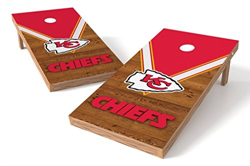 PROLINE NFL 2'x4' Cornhole Board Set - Uniform Design, Kansas City Chiefs