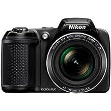 Nikon Coolpix L34020,2MP cámara digital con zoom óptico de 28x y 3.0-inch LCD (Negro) Negro